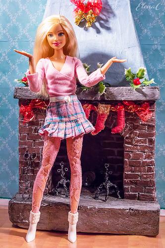 Natale 2017 in casa Barbie: un po' di foto al salottino natalizio