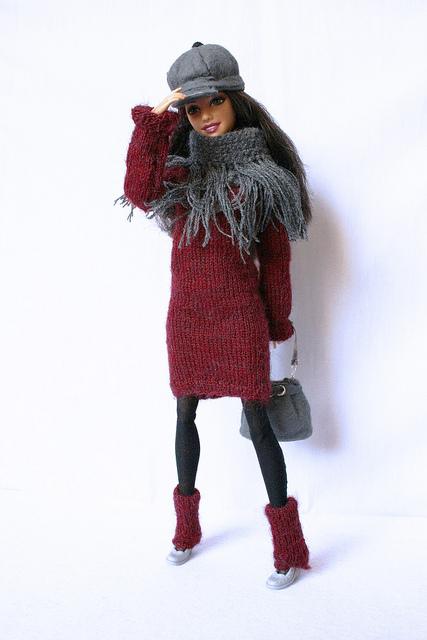 Sesto esperimento di abitino per Barbie: Completino invernale